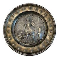 Repousse Conquistador Pewter Plate Phoenix CWM Marked