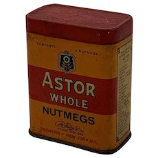 Astor Whole Nutmeg Tin with Some Original Contents
