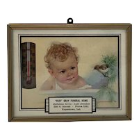 Advertising Thermometer Gray Funeral Home Hagerstown Indiana