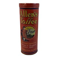 Allen's Toffee Tin Famous in England since 1860