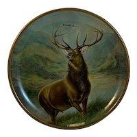 Tin Litho Mohawk Trail Elk Souvenir Plate