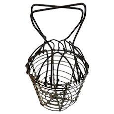 Miniature Wire Egg or Berry Basket Country Primitive Farmhouse Farm