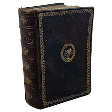 Secret Compartment French Leather Bound Prayer Book