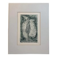 I Am Therefore, You're Not Limited Edition Etching by Carol Lummus Penguins