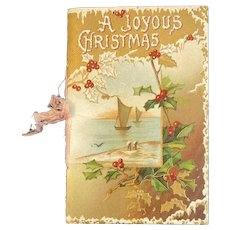 German Edwardian A Joyous Christmas Poetry Book Booklet Embossed Harriet Louise Forrest Germany Chromolithograph Illustrations