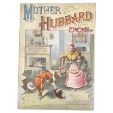 1890 McLoughlin Bros Mother Hubbard and Her Dog Color Plates Chromolithograph Illustrations Victorian Children's Book Pleasewell Series