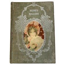 Victorian Poetry Book Poems and Ballads of Heinrich Heine