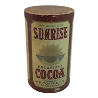 Sunrise Breakfast Cocoa Original Container and Label Never Opened