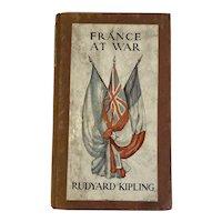 1916 Rudyard Kipling France at War On the Frontier of Civilization Book World War I WWI