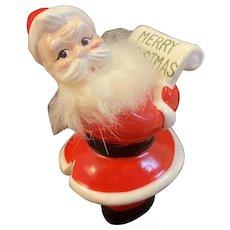 Vintage Santa with Furry Beard Checking His List Japan Ceramics