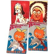 Lot of Four Squeaker and Googly Eye Postcards