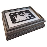 Art Deco Mirrored Top with Silhouette Jewelry Box
