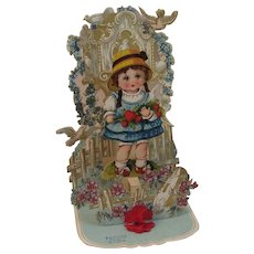 Large Victorian Die Cut German Pop Up Valentine