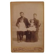 W.H. Tipton Gettysburg, PA Cabinet Photo Card of Family and Children.