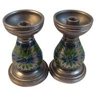 Mid Century Modern Rosenthal Netter Pottery Candlesticks