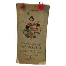 1920s Calendar of Salads Cookbook by Elizabeth O. Hiller