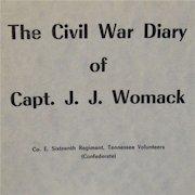 Civil War Diary of Captain JJ Womack Book 1961