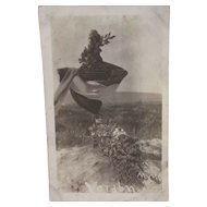Verdun WWI Battle Monument Black and White Postcard