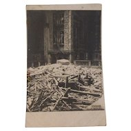Chiesa Degli Scalzi Church Real Photo Postcard - WWI Bombardment Destruction