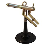 Vintage Steampunk Brass Welding Torch on a Cast Iron Base