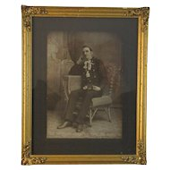 Fireman Photograph Photo in an Ornate Golden Frame