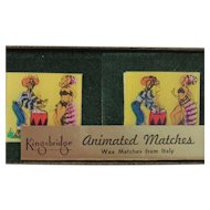 Set of Four Caribbean Animated Dancers Wax Match Boxes