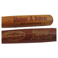 Pair of  Vintage Miniature Baseball Bat Pencils