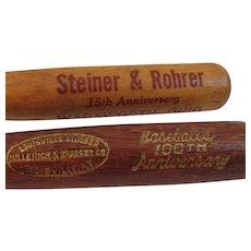 Pair of  Vintage Miniature Baseball Bat Pencils