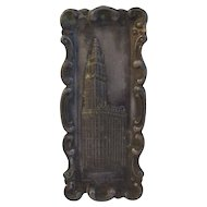 1911 Souvenir Pot Metal Woolworth Building Tray