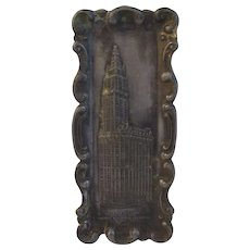 1911 Souvenir Pot Metal Woolworth Building Tray