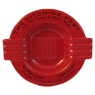 Mid Century Salesman Sample Red Ashtray
