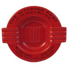 Mid Century Salesman Sample Red Ashtray