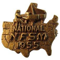 1955 National NFSM Fraternal Pin