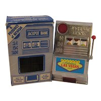 Vintage Jackpot Slot Machine Bank from Las Vegas