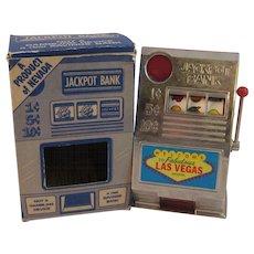 Vintage Jackpot Slot Machine Bank from Las Vegas