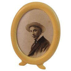 Vintage Photo of African American Man in Celluloid Frame