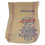 Myles Preferred Salt Cotton Bag - New Orleans 25 Pounds Vintage Retro Kitchen