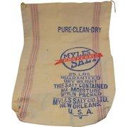 Myles Preferred Salt Cotton Bag - New Orleans 25 Pounds Vintage Retro Kitchen