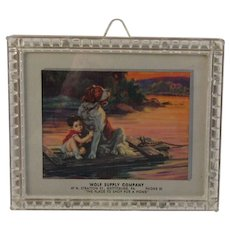 1951 Pull Down Store Advertising Calendar from Gettysburg, PA Wolf Supply Company