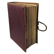 Victorian Leather Photo Album 7 Babies, 2 Children, 22 Adults