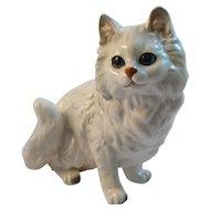 Vintage Napco Napcoware Large White Siamese Cat Figurine