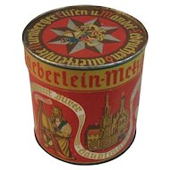 Vintage German Haeberlein-Metzger Biscuit or Candy Tin