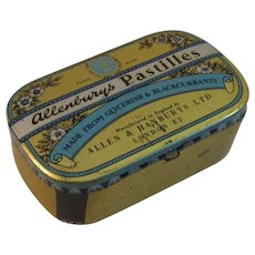 Vintage Allenbury's Pastilles Tin Candy English England