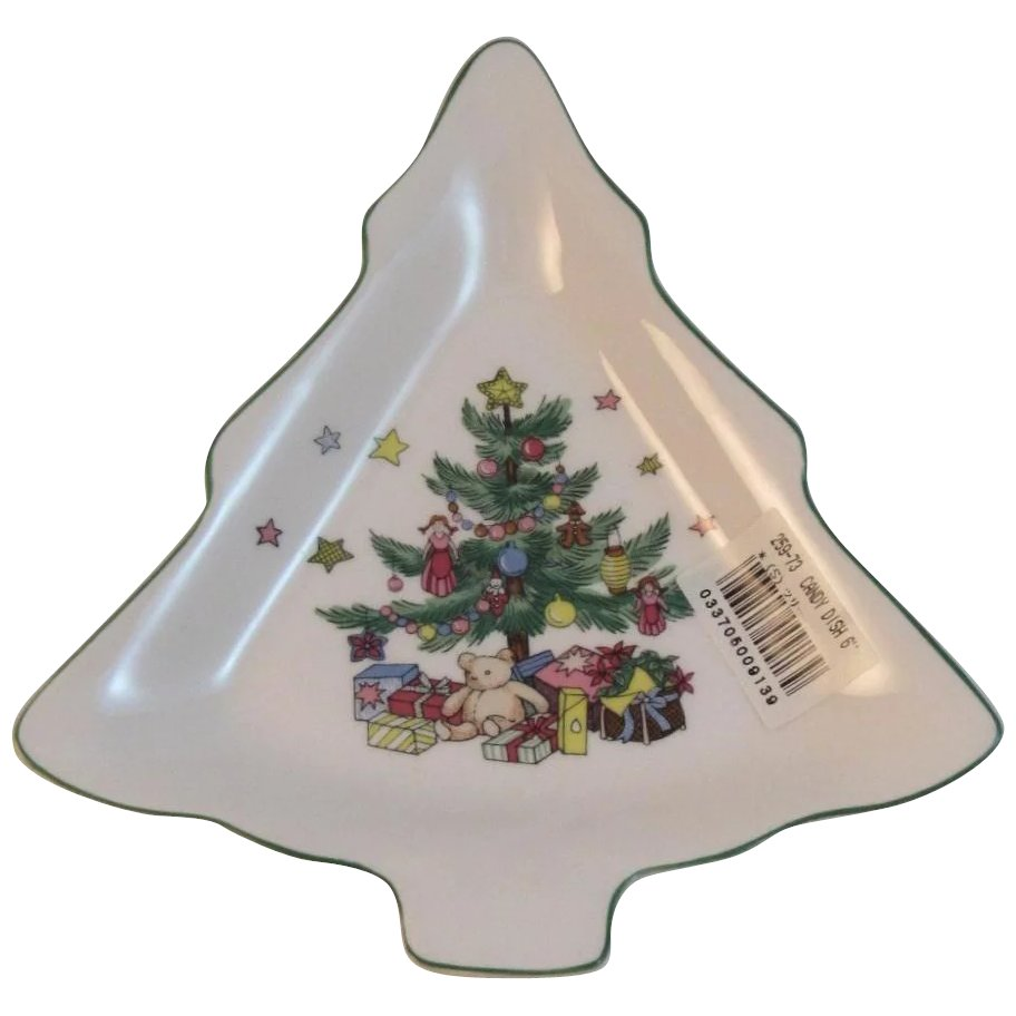 Nikko Christmastime Christmas Tree Candy Dish : SS Moore Antiques ...