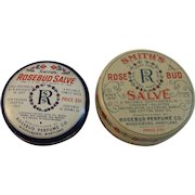 2 Vintage Smith's Rosebud Salve Tins from the Rosebud Perfume Co