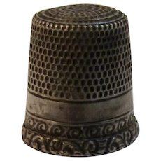 Vintage Sterling Silver Thimble for Sewing