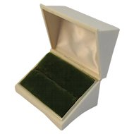 Vintage Velvet Lined Jewelry Ring Presentation Box