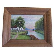 Pennsylvania Artist Lehman Oil Painting, 'The Cottage'