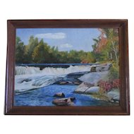 'Wilderness Falls' by Pennsylvania Artist M. W. Lehman