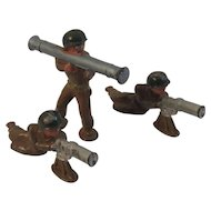 Set of 3 Barclay Toy Soldiers